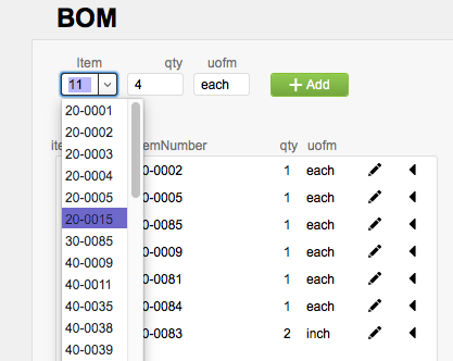 Create a BOM from global fields