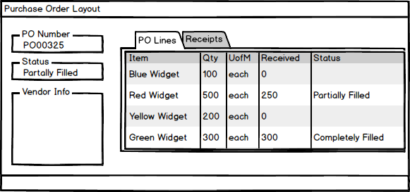 FMP PO/Receipt Layout Mockup